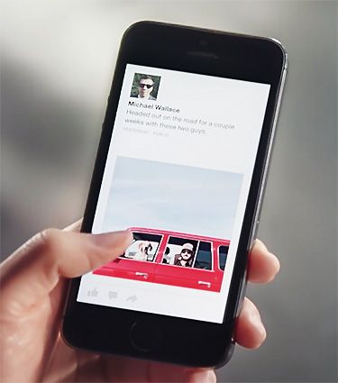 Facebook redéfinit le blogging sur iPhone