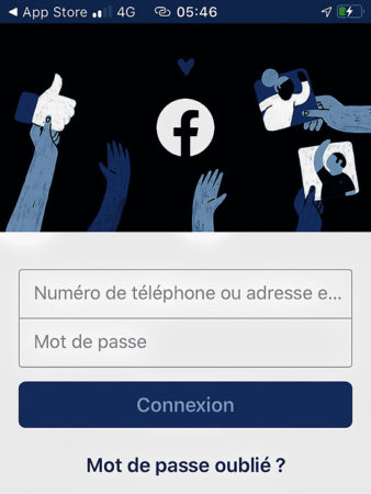 Ouvrir l'application Facebook